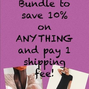 Bundle to save 10% and only pay 1 shipping fee!